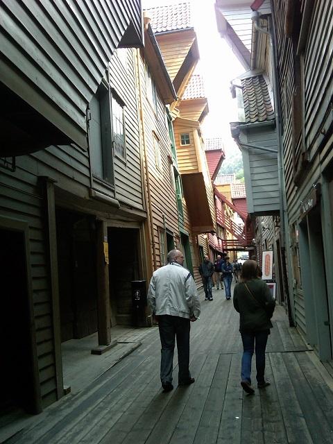 Bryggen alley July 2010